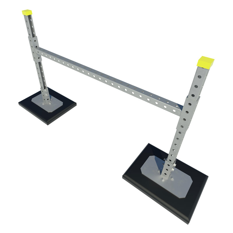 RTSH H-Stand Roof Pipe And Duct Support with Single Cross Brace