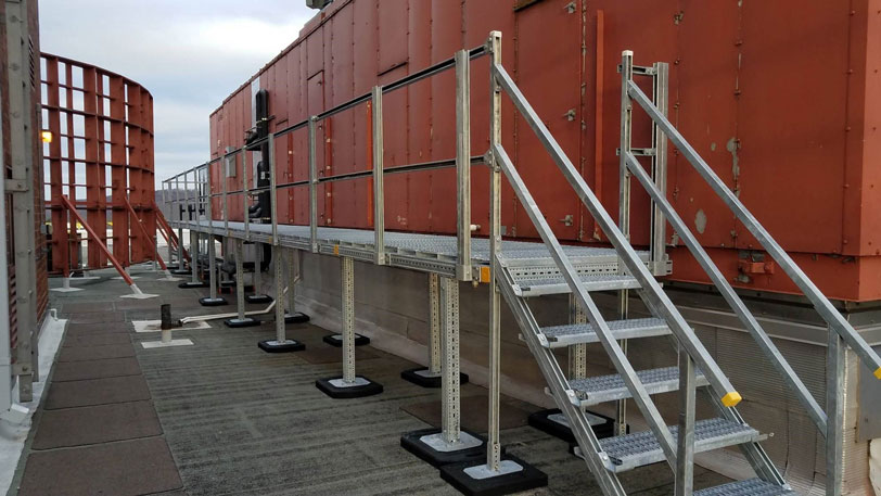 access platform installed on rooftop