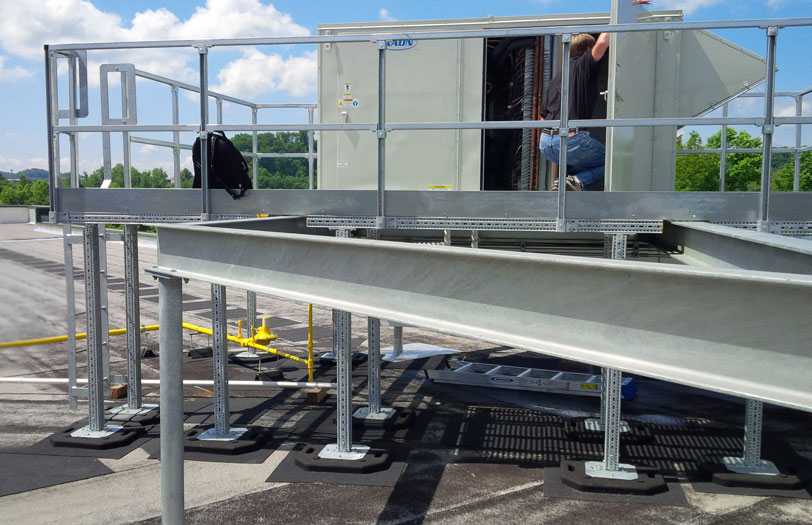 rooftop maintenance platform