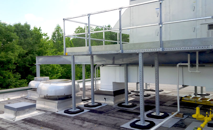 maintenance platform with sikla framo pipe and bases