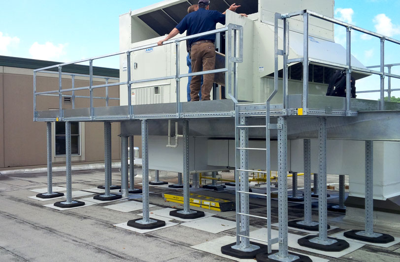 completed installation of a maintenance platform