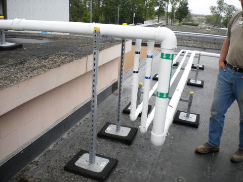 multi-level pipe support setup