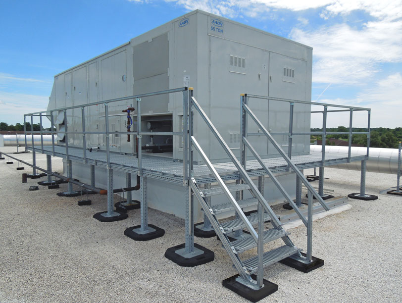 custom rooftop maintenance platform